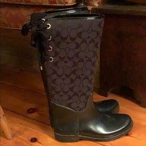 Coach signature black Tristee rain boots